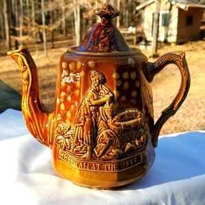 """Other - Teapot, """"Rebekah at the well"""", antique, rare"""